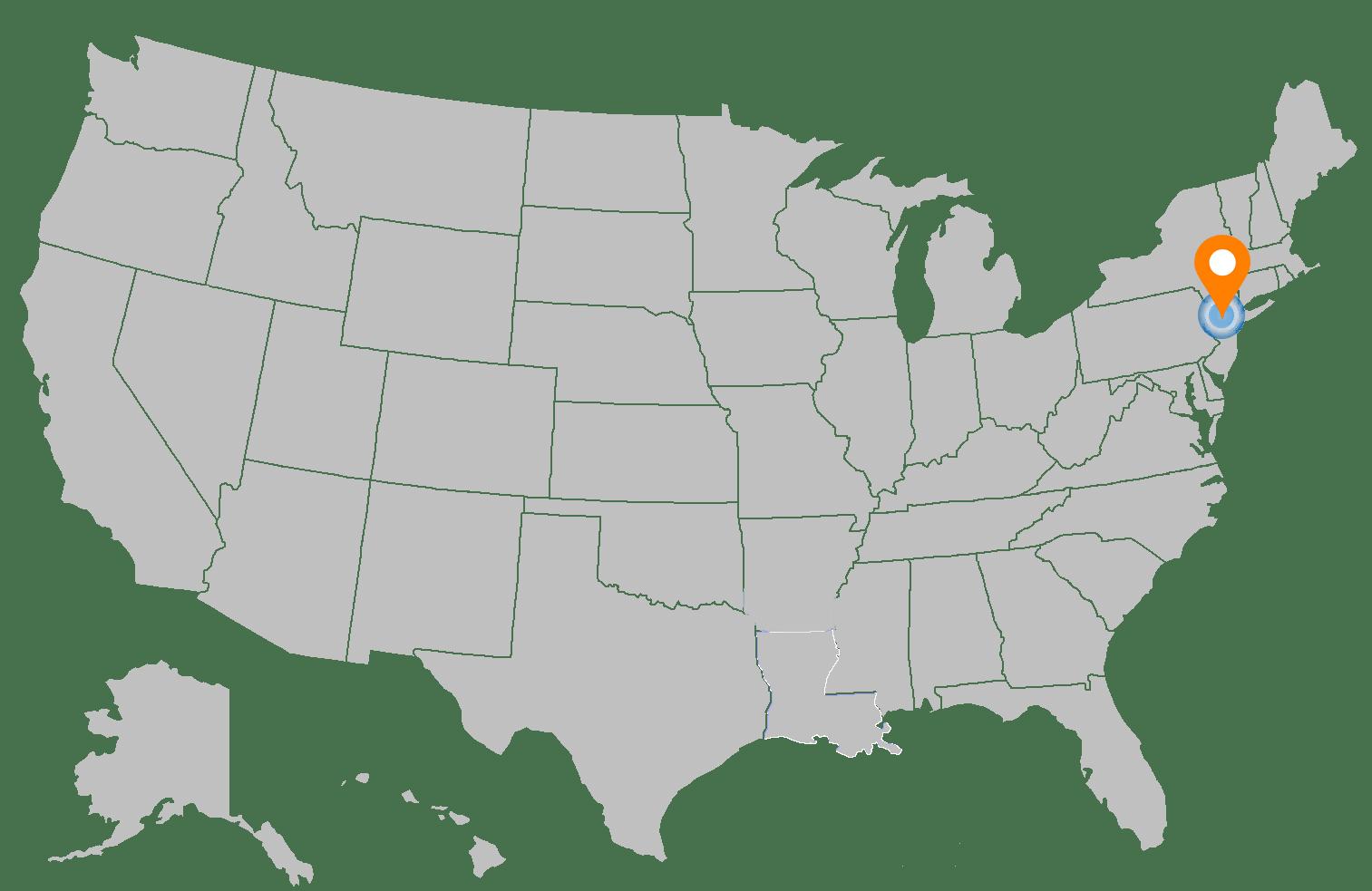 Mapa con ubicacion del centro de datos