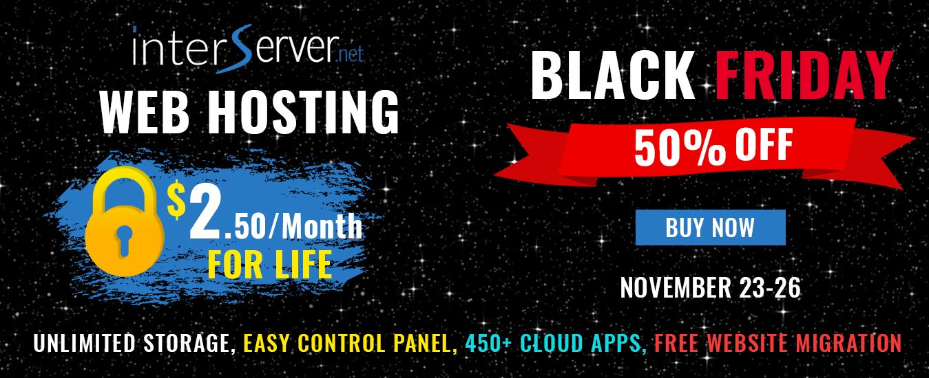 Black Friday Web Hosting Sale