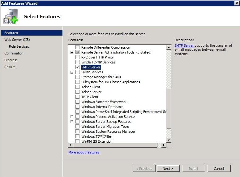 How to setup and configure SMTP Server on Windows Server