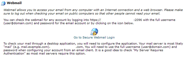 Web Mail - Interserver Tips
