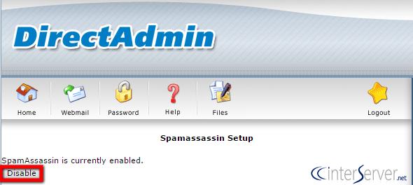 SpamAssassin Setup in DirectAdmin