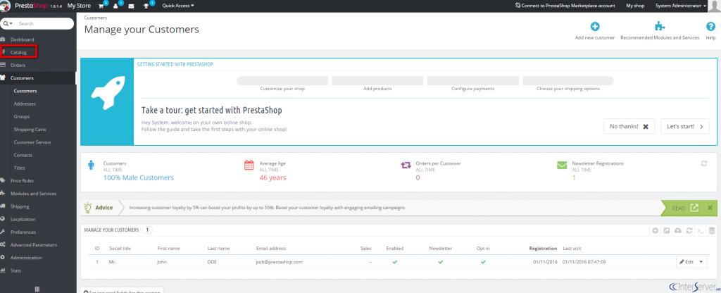 Create product in PrestaShop