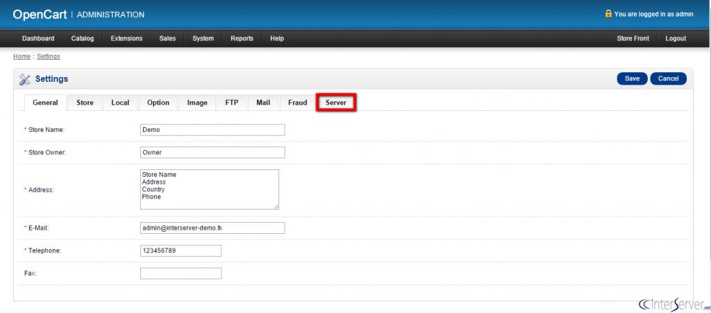 Enable SSL in OpenCart