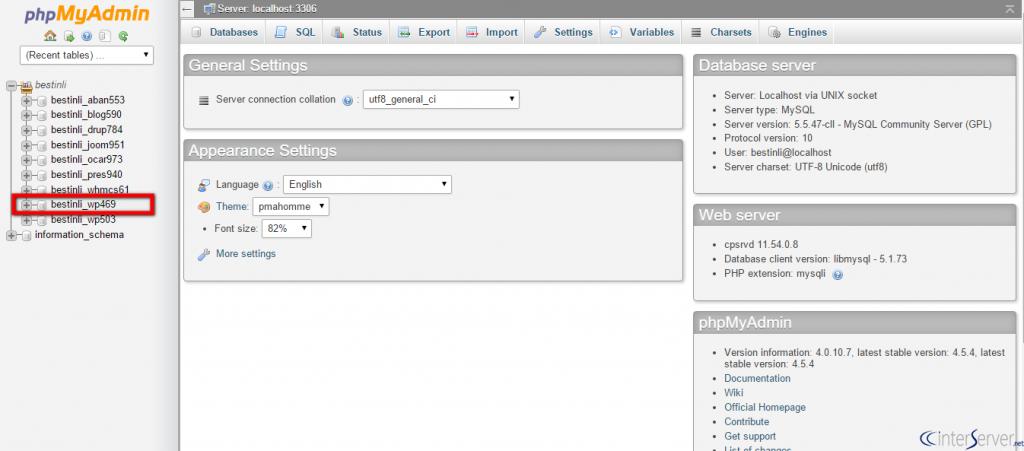 MySQL query in phpMyAdmin