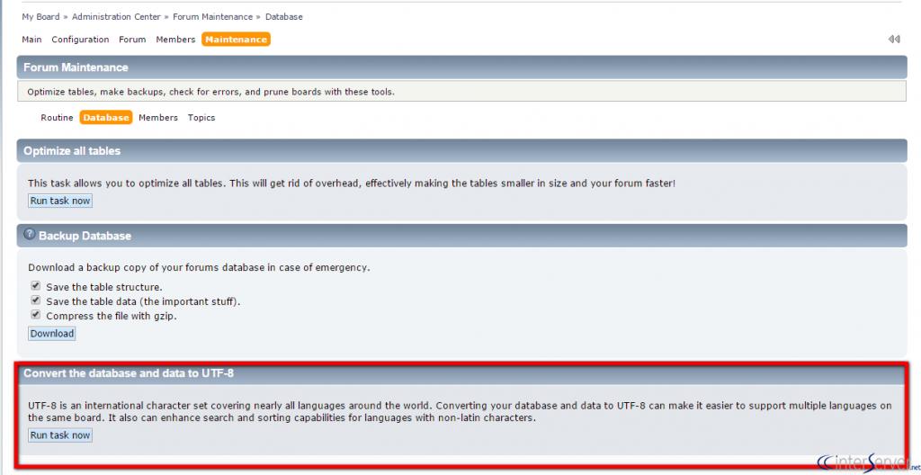 Convert database to UTF-8