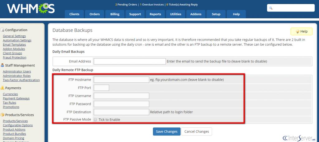 Database Backups