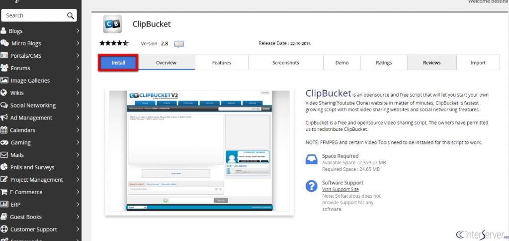 Install ClipBucket