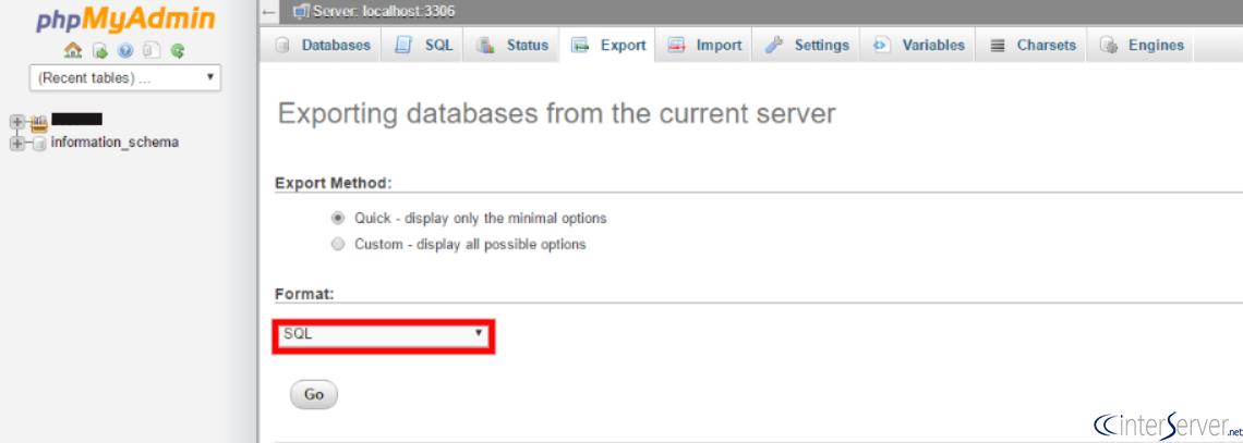 phpmyadmin how to delete database
