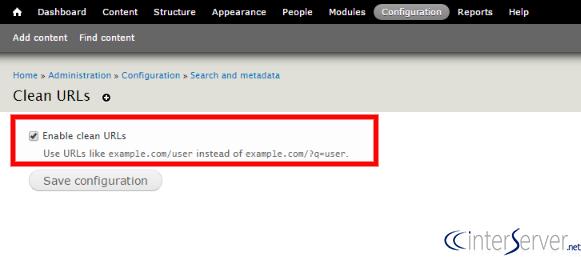 Enable Clean URLs