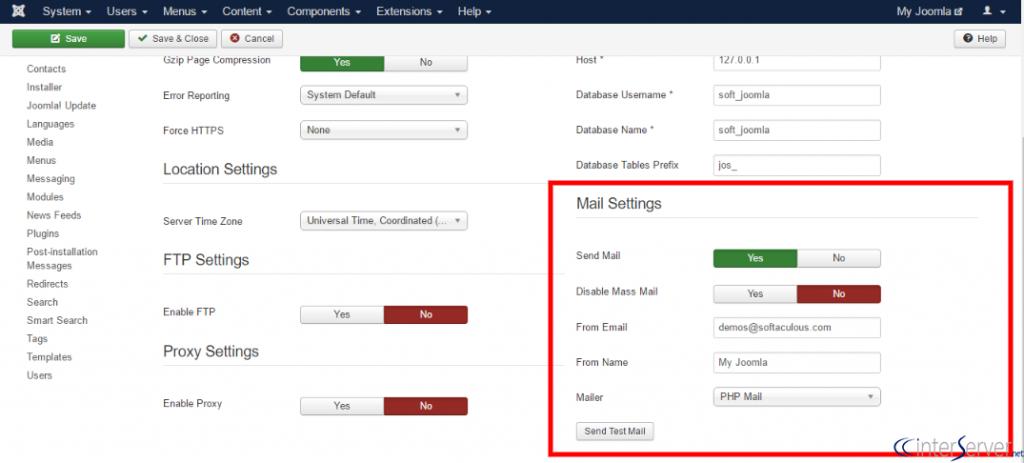 Configure Mail