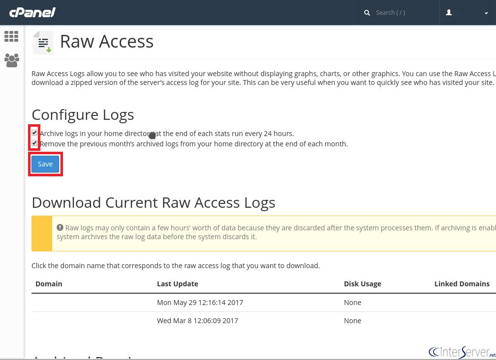 Raw Access Log