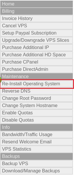 Reinstall Operating System