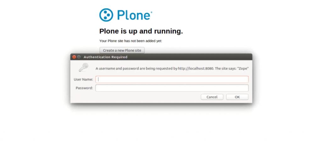 Install Plone