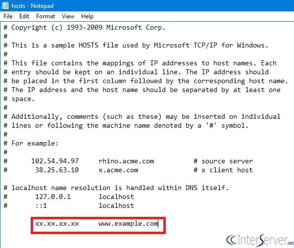 Modify Hosts File on Windows