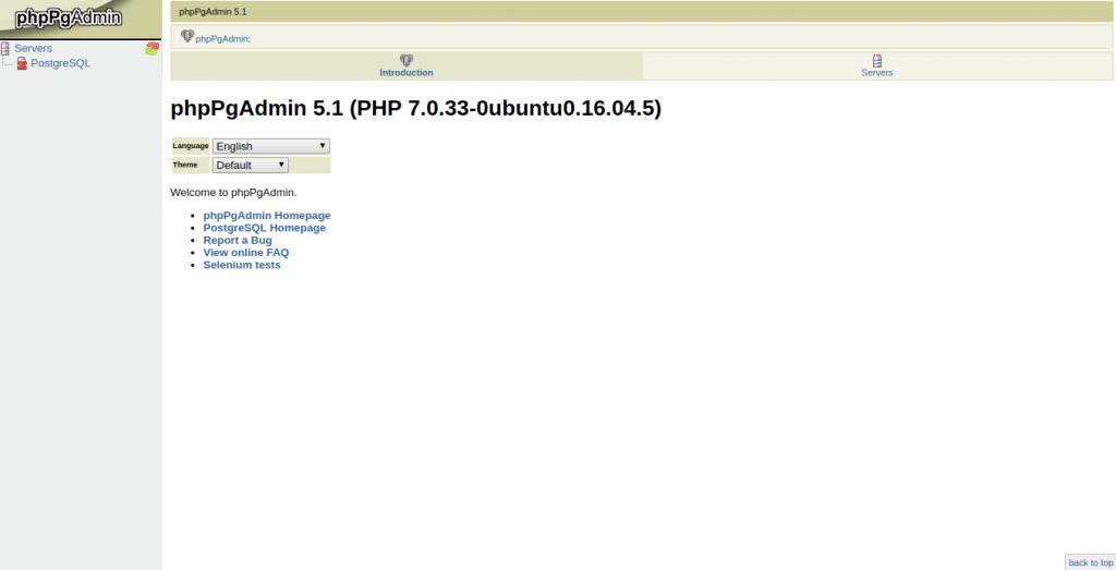 Install PHPPgAdmin